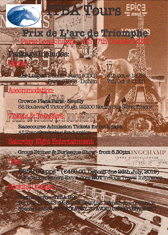 ITBA Tours - Prix de L'arc de Triomphe 2019