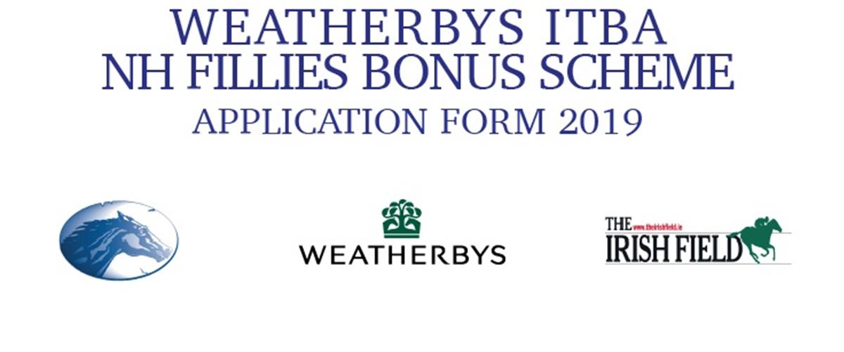 Weatherbys ITBA NH Fillies Bonus Scheme - Application Form