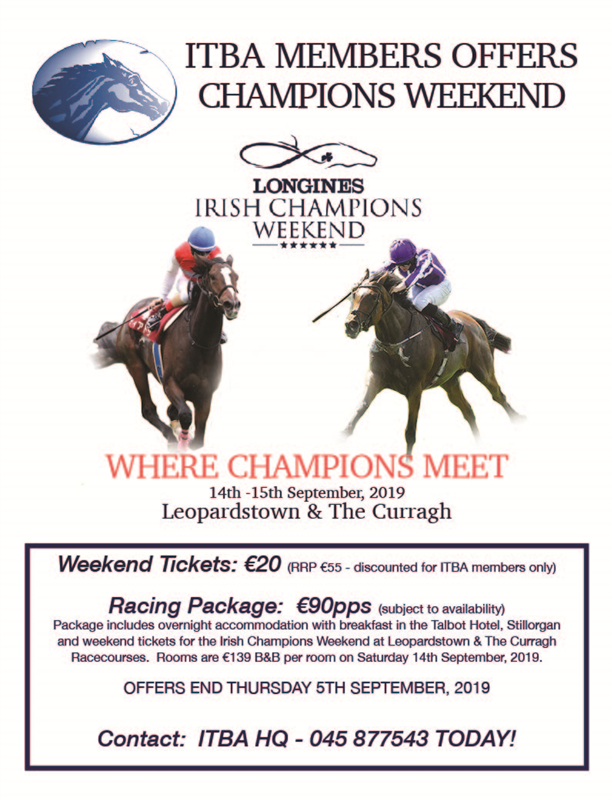 CHAMPIONS WEEKEND ITBA SPECIAL OFFER 2019