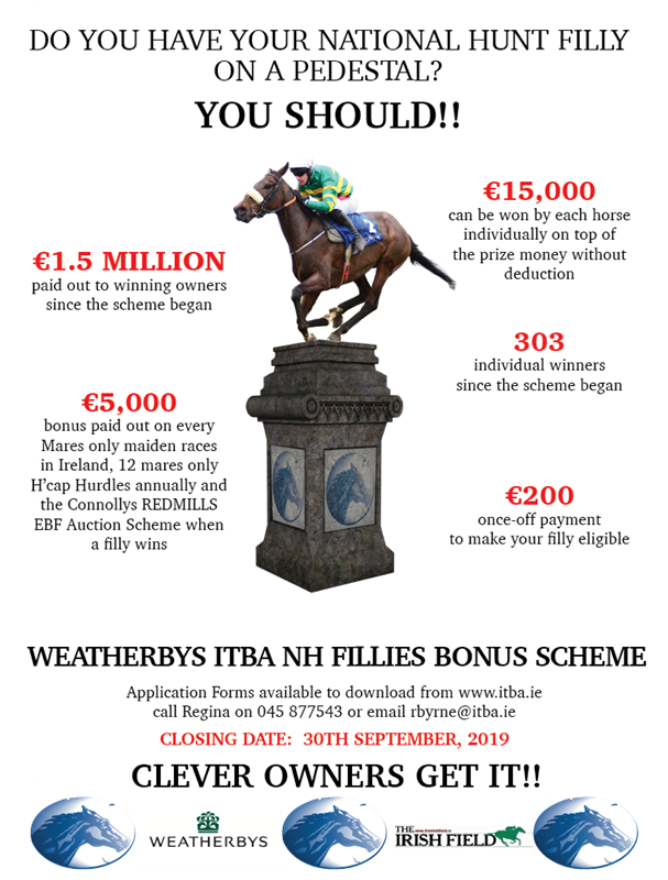 ITBA & Weatherbys National Hunt Fillies Bonus Scheme