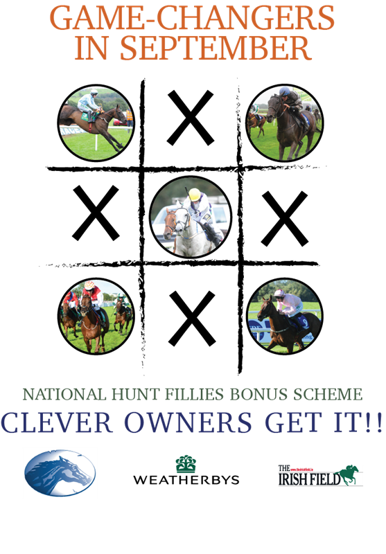 Weatherbys Ireland & ITBA National Hunt Fillies Bonus Scheme Winners for September