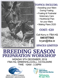 ITBA Breeding Season Preparation Workshop