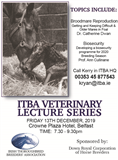 ITBA A/W Veterinary Lecture  Series