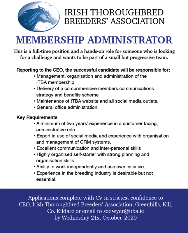 ITBA Membership Administrator Vacancy