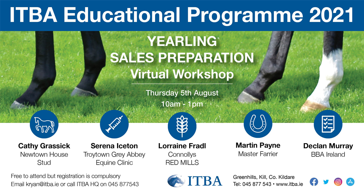 ITBA A Smart Approach to Yearling Sales Preparation Workshop